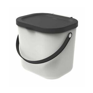 Poubelle Conteneur en plastique recyclé Rotho Albula 6L