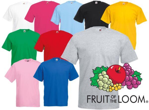 Amichevole Linea Uomo Donna In Bianco T-shirt Tee Shirt Girocollo Fruit Of The Loom 100% Cotone Tinta Unita Garanzia Al 100%