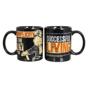 Hasbro Monopoly Vintage Mugs /& Soup Mugs Rich Uncle Pennybags Moustache 50 Bi
