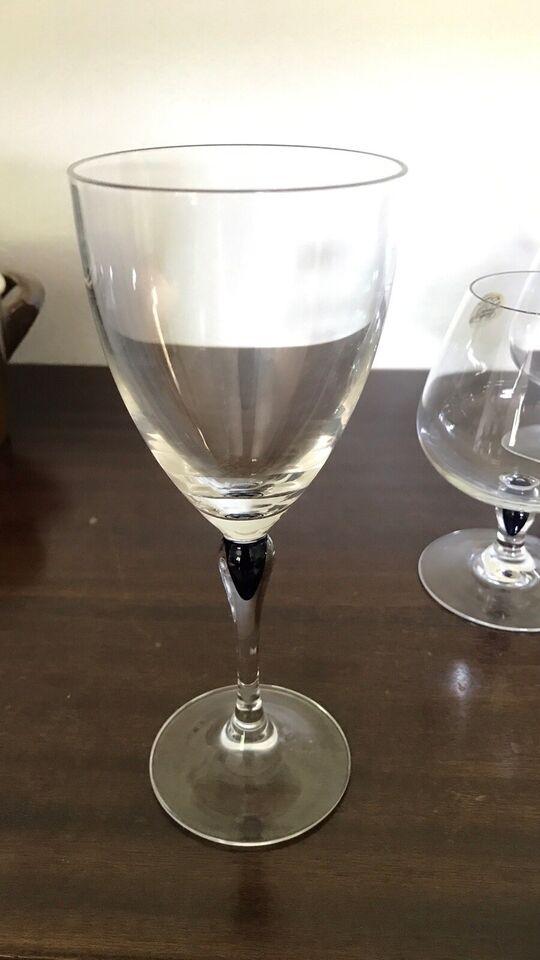 Glas, Blå safir Krystal glas + bonboniere, Christal