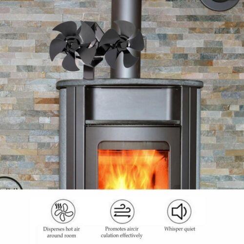 8 Blade Heat Powered Stove Fan Log Wood Burner fireplace Fan Eco Friendly