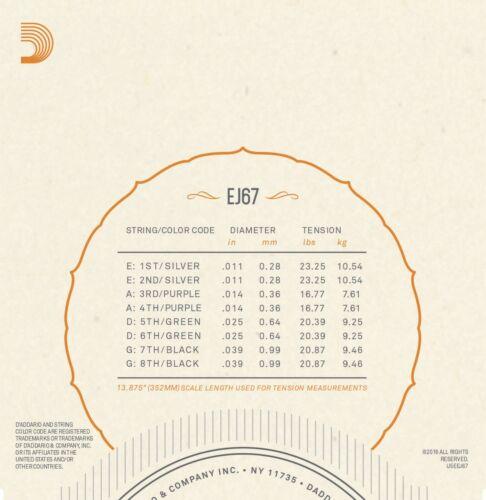 D/'Addario EJ67 Mandolin Strings Nickel Medium 11-39
