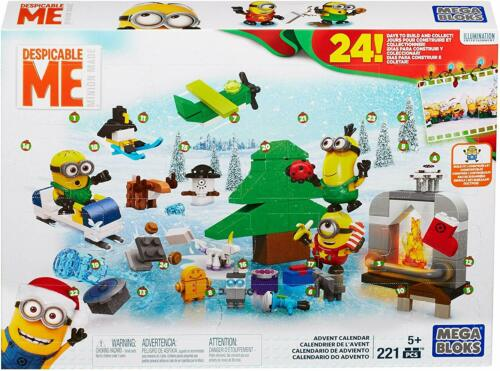 NEW Mega Bloks Despicable ME Minions Advent Christmas Calendar 221 pc.