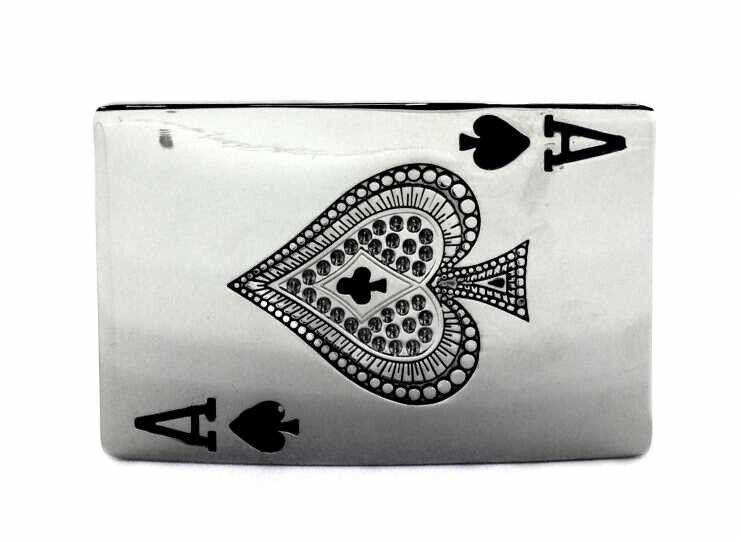 Gürtelschnalle Buckle Rockabilly Ace of Spades Spielkarte