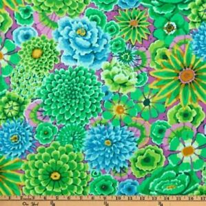 Free-Spirit-Kaffe-Fassett-Enchanted-Floral-PWGP172-Green-Cotton-Fabric-BTY