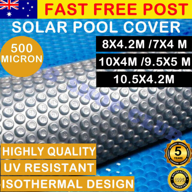 Solar Swimming Pool Cover 500 Micron Outdoor Bubble Blanket 5 SIZES 5 YR WRTY