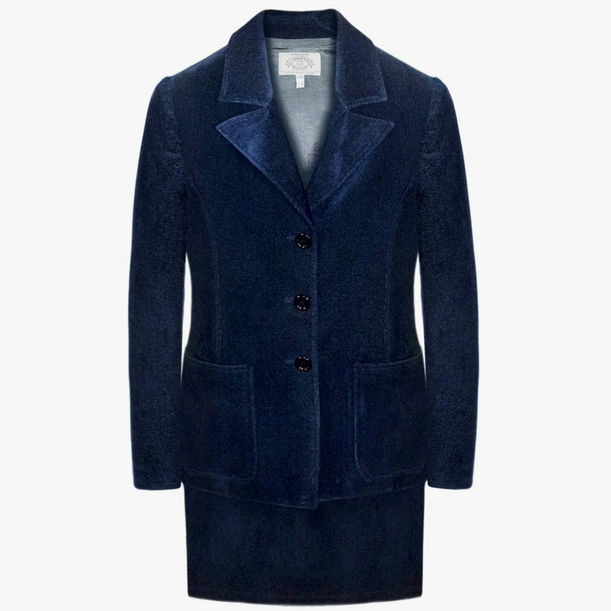 Armani  jeans falda traje mujer talla 40 6 s Para Mujer Traje de Terciopelo Azul Formal Suit S  punto de venta en línea