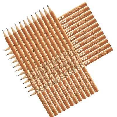 12 x Faber-Castell 1117 Bleistifte mit Radierer Bleistift natur B HB 12er Pack