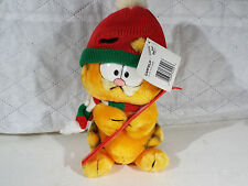Vintage Fun Farm 1981 Garfield Cat PLush Stuffed Animal Skis Winter 10""