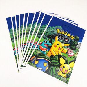 POKEMON-GO-10pcs-Loot-Party-Bags-10pcs-Invitations-Birthday-Party-Blue-Pikachu