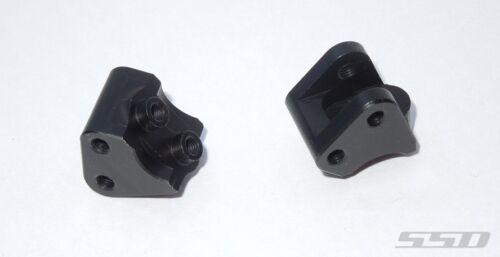 SSD RC Aluminum Link Mounts for SCX10 II Black SSD00159