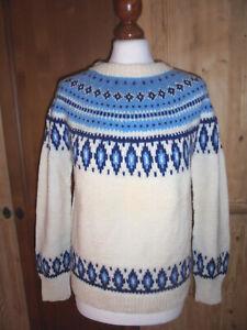 vintage-LINA-LUNDS-norway-Islandpullover-norweger-hippie-islandpulli-Wollpulli