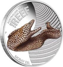 Australia 2010 50ct Australian Sea Life - Moray Eel 1/2 Oz Silver Proof Coin
