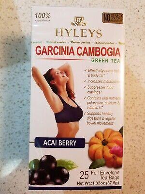 Hyleys Green Tea With Garcinia Cambogia Acai Berry Flavor 25 Tea