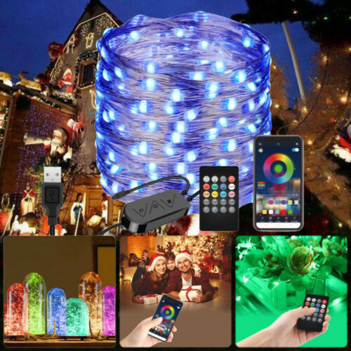 Smart LED USB RGB Remote String Light Bluetooth App Controlled Fairy String lamp