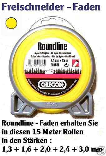 Desbrozadora mähfaden 2,4 mm Oregon roundline amarillo 15 m aproximadamente para Motorsense