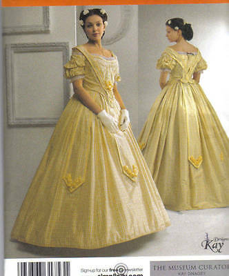 Pattern Civil War 2pc DRESS 8-14 & 16-24 gown s2881 party NEW sewing reenactment