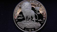 2000 Togo 1000 Francs Lion Silver Proof Coin RARE