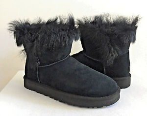 613b56d7793 Details about UGG CLASSIC MINI MILLA BLACK TOSCANA CUFF BOOT US 9 / EU 40 /  UK 7.5 NEW