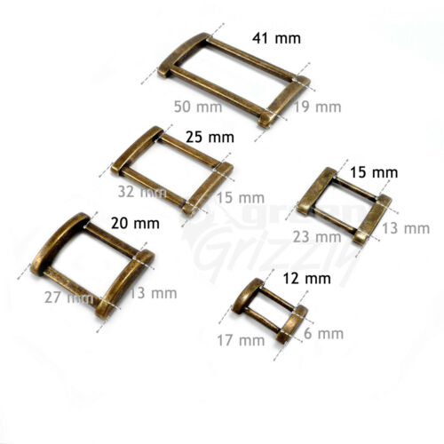 Solid Rectangle Metal Square Ring Belt buckle for webbing 12 15 20 25 30 40 mm