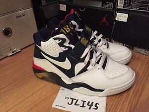 08308f5562 Nike Air Max 180 Charles Barkley Olympic CB Size 8 Jordan White Blue ...