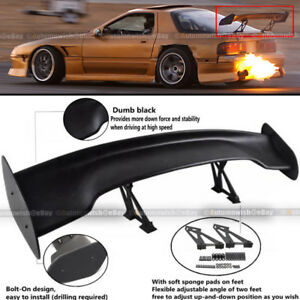 Details About For 240sx Jdm 57 Gt Style Adjustable Bracket Down Force Spoiler Wing Abs Black