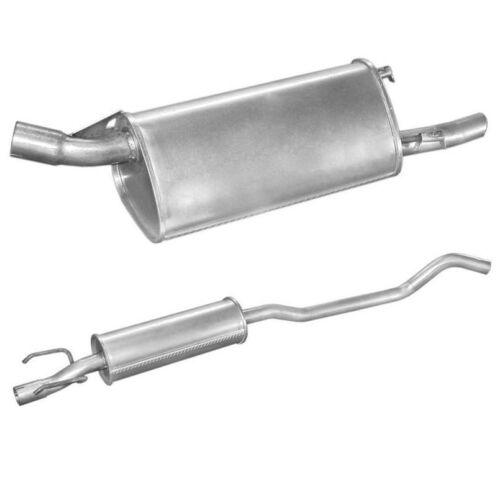 Endschalldämpfer Mittelschalldämpfer  Opel Corsa B 1196 ccm 03//93-12//00