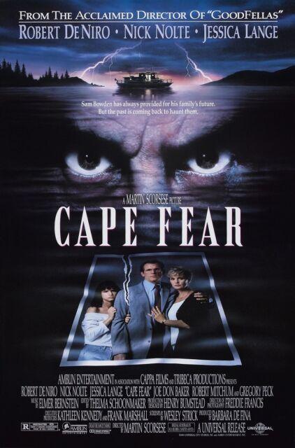 CAPE FEAR movie poster ROBERT DE NIRO poster, JESSICA LANGE, NICK NOLTE