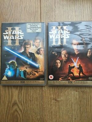 Star Wars Revenge Of The Sith And Attack Of The Clones Dvd Bundle 4 Dvds 5039036023238 Ebay