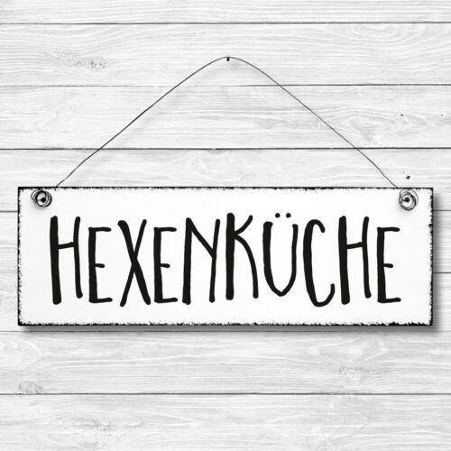 Shabby Holz Deko Wand Tür Schild HEXENKÜCHE Türschild Dekoschild Geschenk