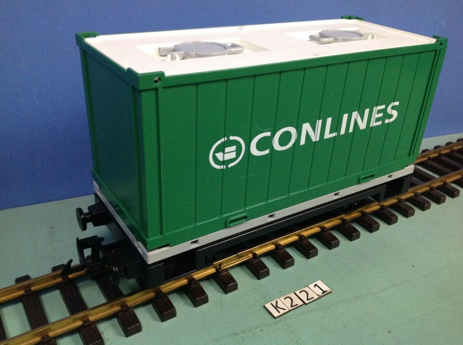 (K221) playmobil Wagon porte contener  train RC Conlines ref 4085 rare 5258 4010  negozio online