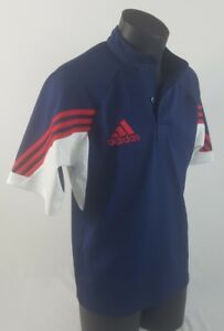 Collared Col Size 42Men's Tee Blanc 42 shirt Taille à T Shirt Small Bleu Red Homme Adidas Petit White Climalite Climalite Rouge Adidas Blue dxeQrCoBW