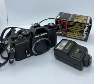 Konica-Autoreflex-T3-SLR-Cuerpo-de-Camara-Manual-de-pelicula-35mm-Correa-Excelente
