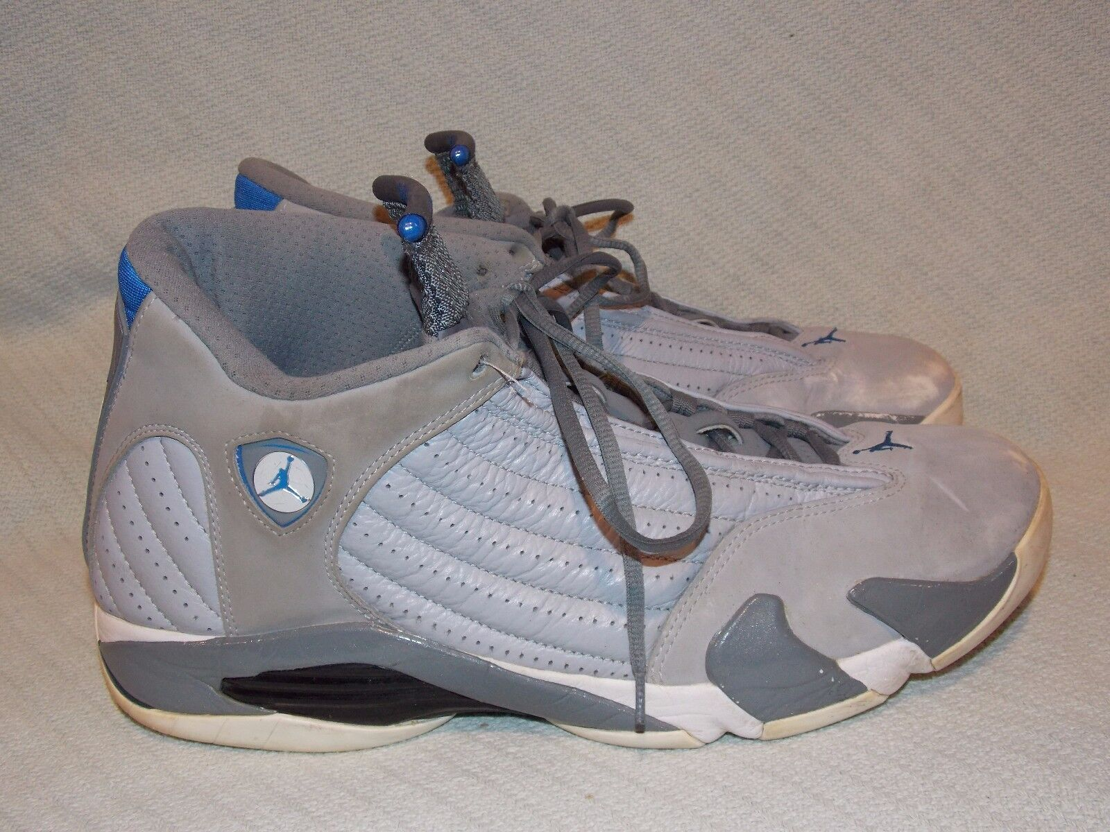 nike air jordan 14 retro - blaue wolf grau / sport blaue - kühle grau - weiß 487471-004 größe. ae429d