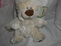 First & Main Plush Lovey 8 Cream Chubby Bear Teddy Eloise Soft Ivory