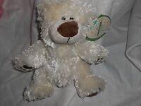 First & Main Plush Lovey 8 Cream Chubby Bear Teddy Eloise Soft Ivory