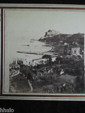 STA316 Napoli Italie Naples Giogio Summer vintage Photo 1900 STEREOview