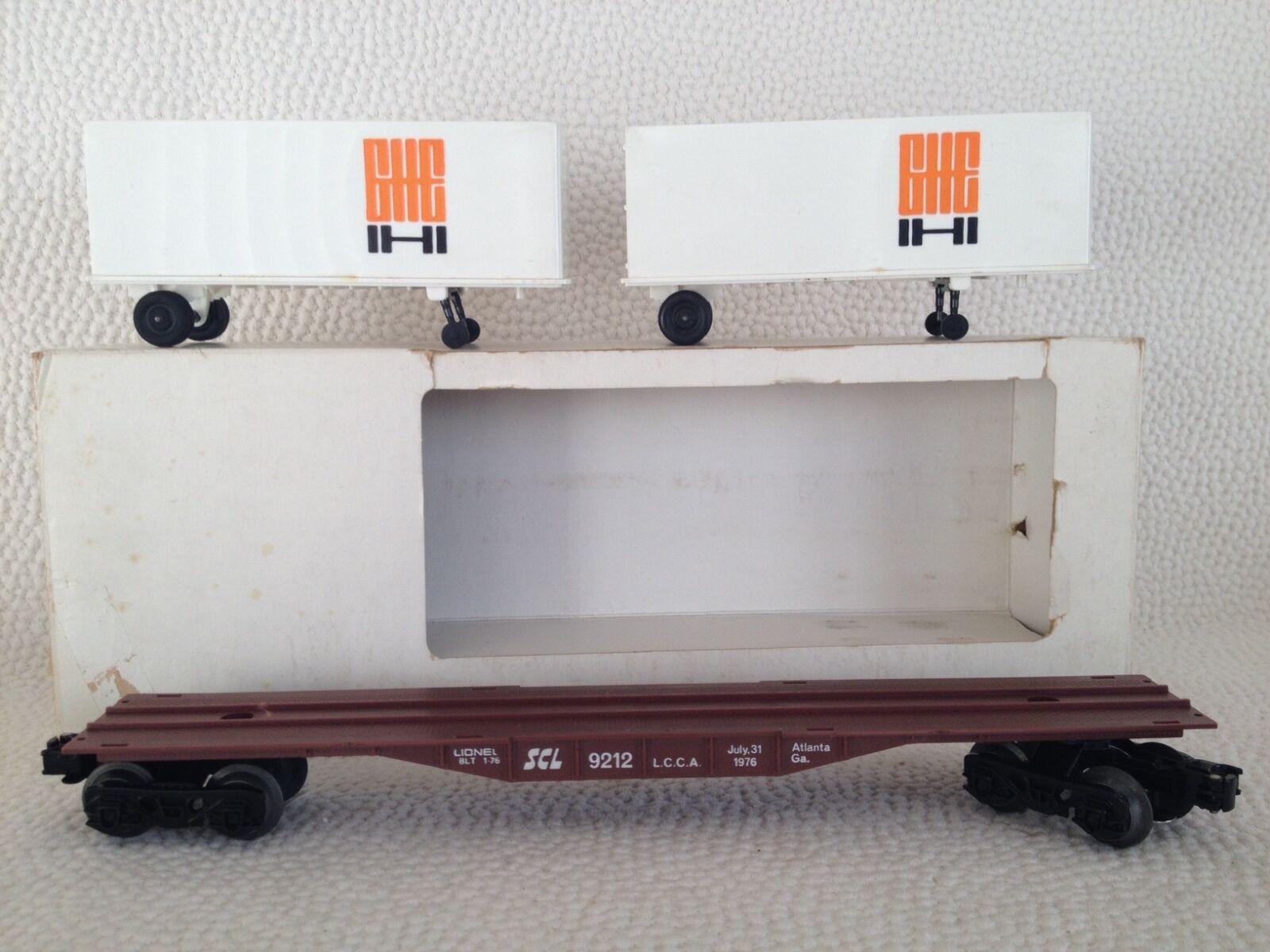 Lionel 1975 L.C.C.A. Seaboard Coast Line Flat Car GHE Trailers