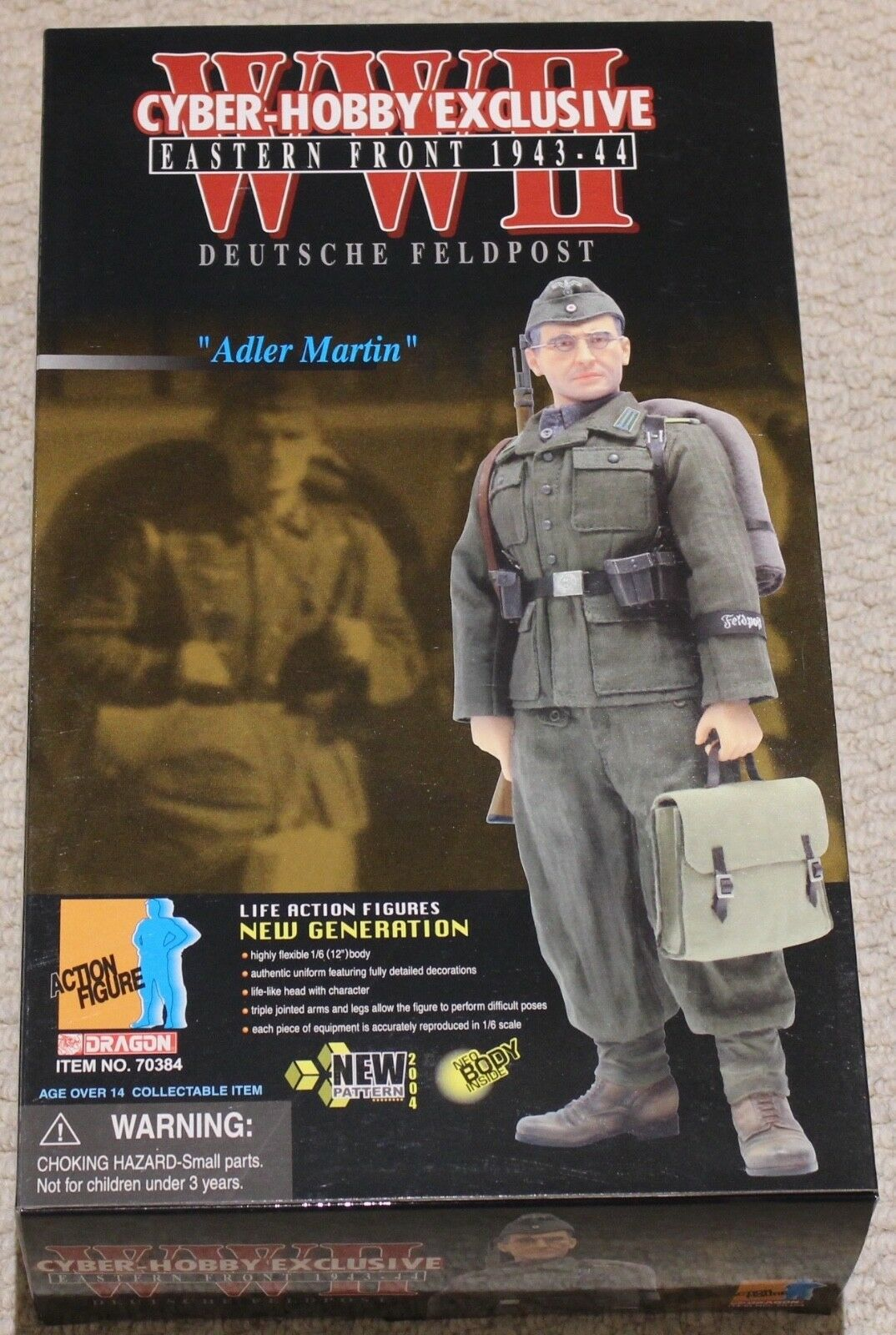 Dragon action figure 1 6 ww11 german alder martin 12'' boxed did cyber hot toy