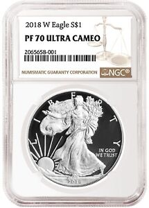 2018-W-Silver-Eagle-Proof-NGC-PF70-Ultra-Cameo-Brown-Label