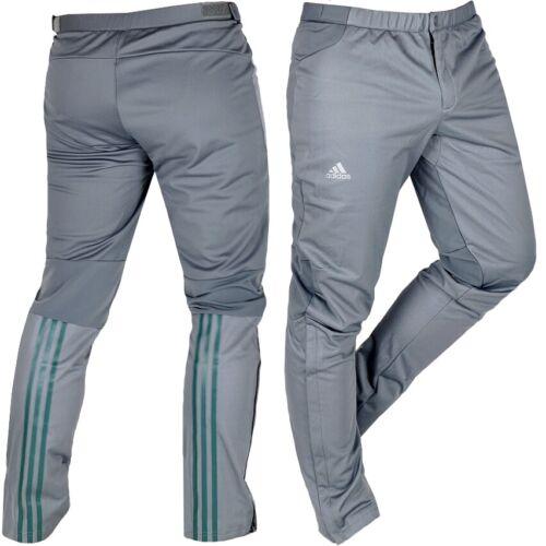 Adidas Herren Softshell Hose Thermohose Tourenhose Outdoor Hose XC Laufhose grau