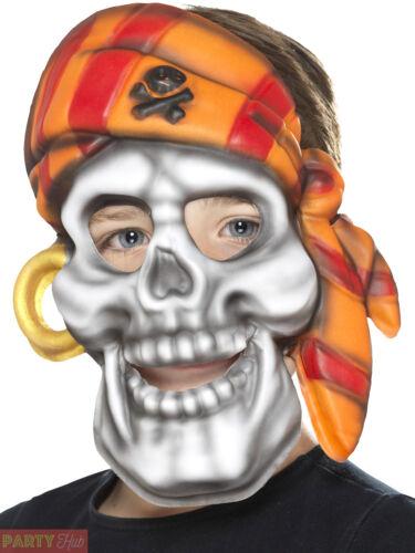 Childs Pirate Skull Mask Boys Girls Halloween Caribbean Fancy Dress Accessory