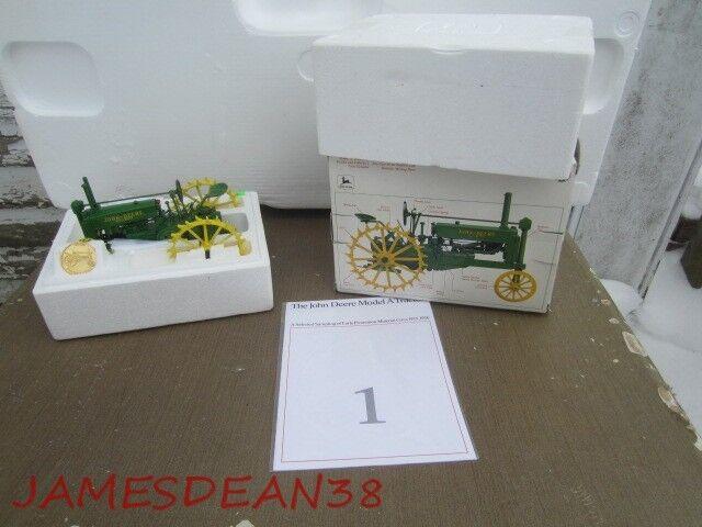 1990 ERTL John Deere Model  A   Precision Classics  1 vintage box médaille brochure