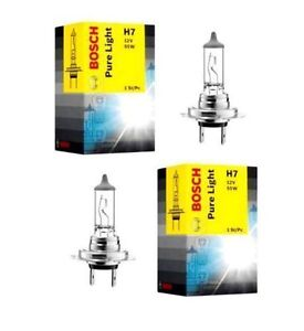 2x bosch pure light h7 12v 55w halogen auto lampe original 1987302071 wow ebay. Black Bedroom Furniture Sets. Home Design Ideas