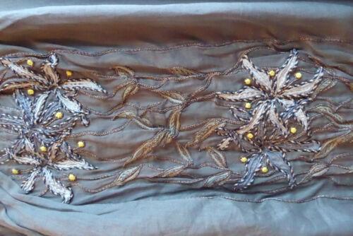 Uk8 del Taglia 40 Dettagli Green Skirt ricamo Marni Commessa Flower Bnwot Khaki axwvn6CgqU