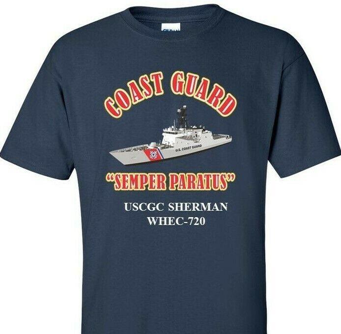 USCGC SHERMAN  WHEC-720 COAST GUARD  VINYL PRINT SHIRT SWEAT