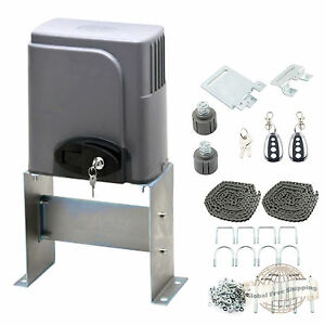 Automatic Sliding Gate Opener 1400lbs Motor Auto Close Security System Ebay