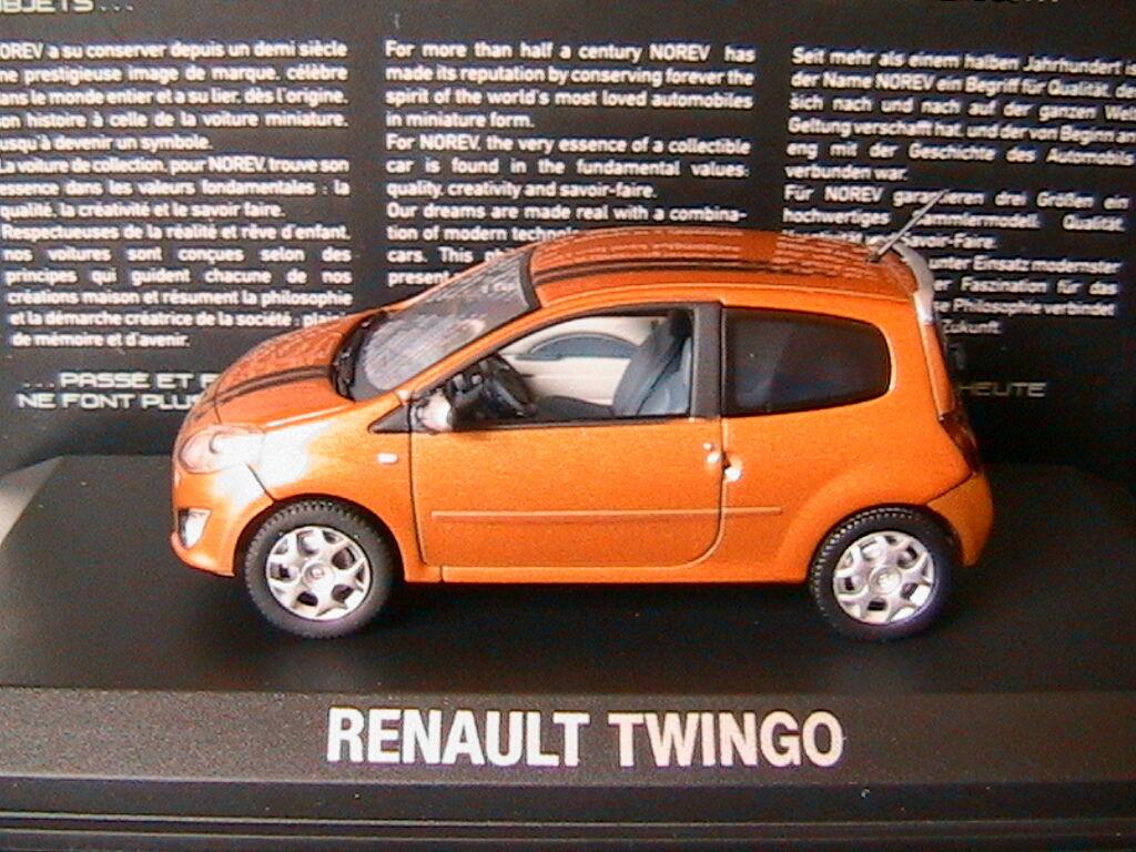 RENAULT TWINGO II GT Orange 2007 NOREV 517431 1 43 BRONZE LEFT HAND DRIVE LHD