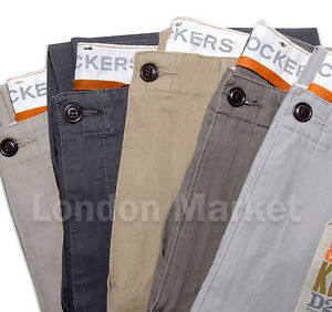 Original Dockers Men Trousers D2 Lived Worn Khaki Straight Fit Pants Chinos Ebay