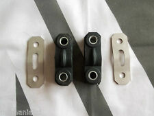 MGF MG F Pair Exhaust Hanger Rubbers & Stainless Hanger Plates mgmanialtd.com